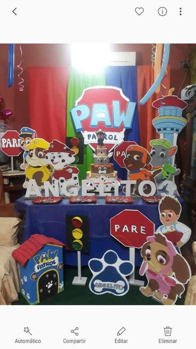 <strong>decoracion</strong> Paw Patrol 3n Fomi Y Madera