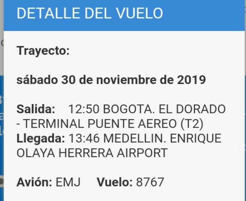 Tiquete de Avion Bogota-medellin (eoh)
