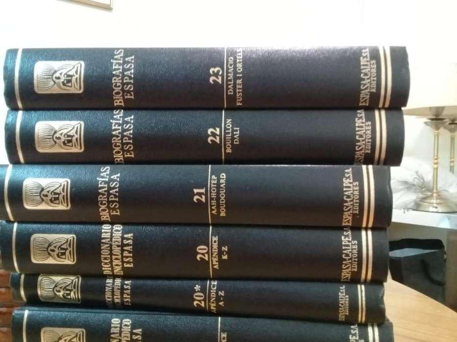 Enciclopedias Y Biografías Espasa Calpe 29 Tomos