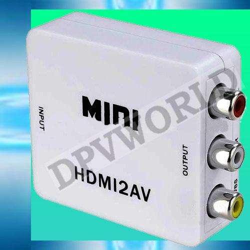 Covertidor HDMI a RCA/AV 1080P Convierte de HDMI a TV Comun VHS DVD