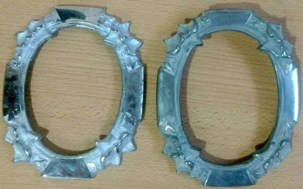 2 Antiguos marcos ovalados de antimonio