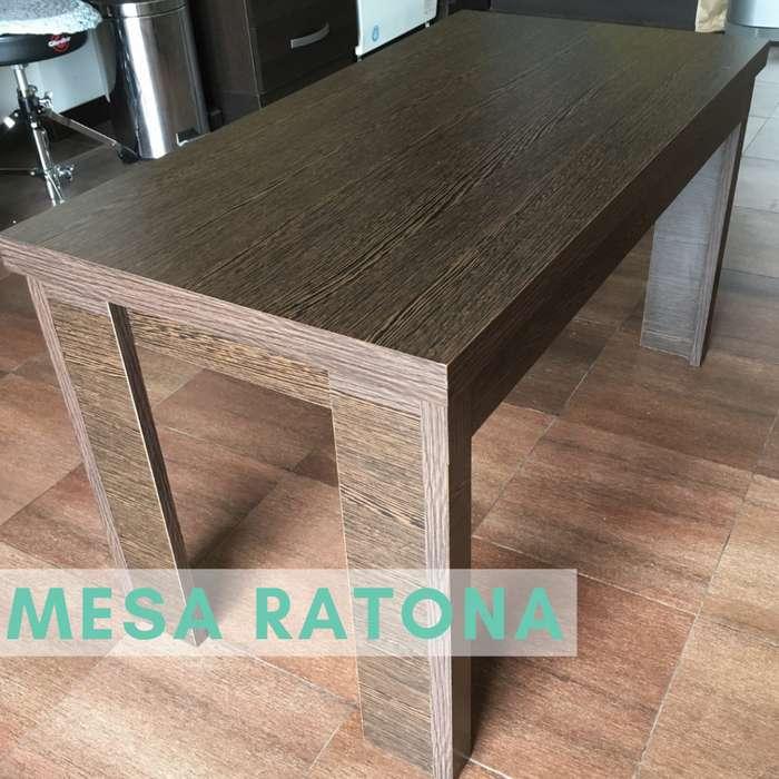 <strong>mesa</strong> Ratona Elevable Extensible Melamina - Varios Colores!