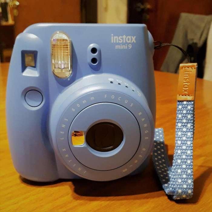 Cámara Fujifilm instax mini 9 azul rollo de 10 fotos