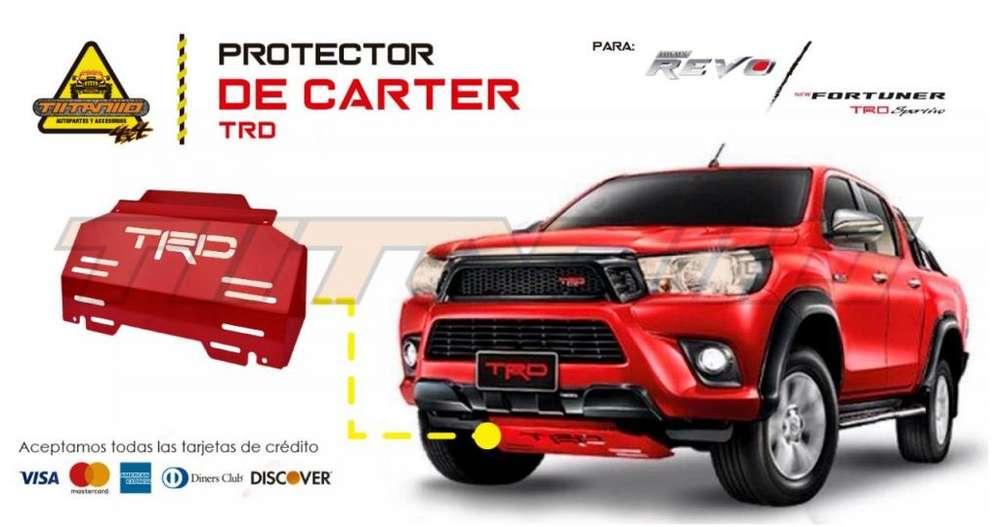 Protector de cárter TRD Toyota hilux revo New fortuner