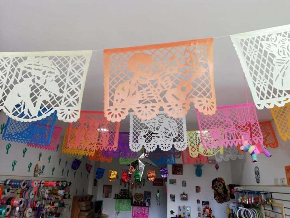 10 hojas de papel picado decorativo mexicano
