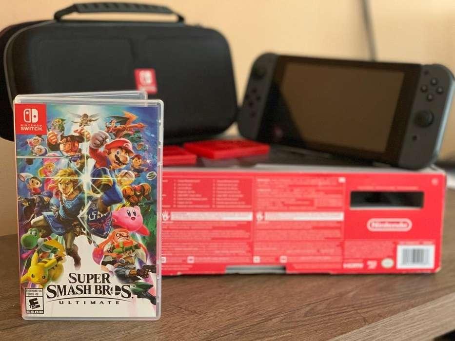 Nintendo Switch con Juego. Estado 9.5/10