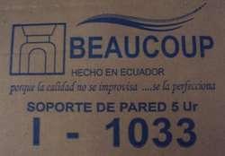 RACK SOPORTE DE PARED 5UR BEAUCOUP I1033 PARA REDES PEQUEÑA