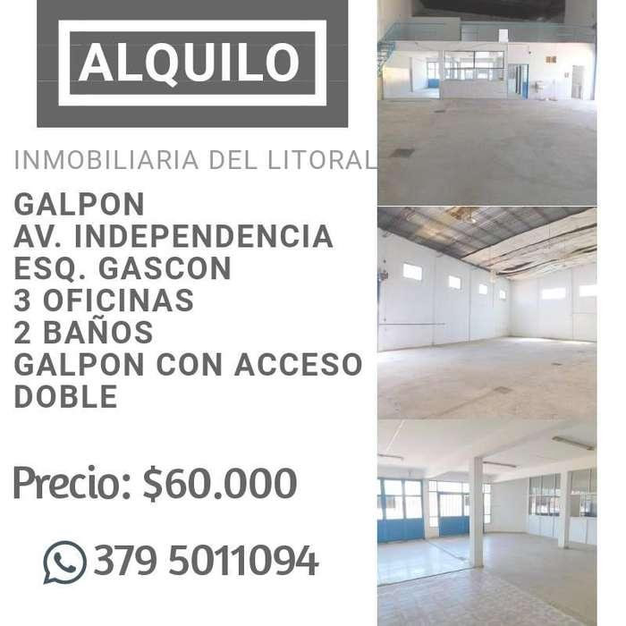 !!! ALQUILO IMPORTANTE GALPÓN !!! SOBRE LA AV. INDEPENDENCIA