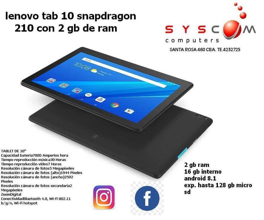 tablet lenovo 10 con 2 gb ram , promo hasta agotar stock