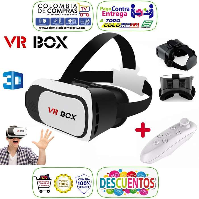 Gafas 3D VR BOX 2da. Generación Realidad Virtual Control Juegos Bluetooth, Nuevas, Originales, Garantizadas
