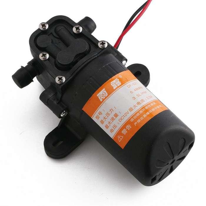 Micro Diafragma Bomba Agua Dc 12v 70psi 3.5l/m Alta Presión