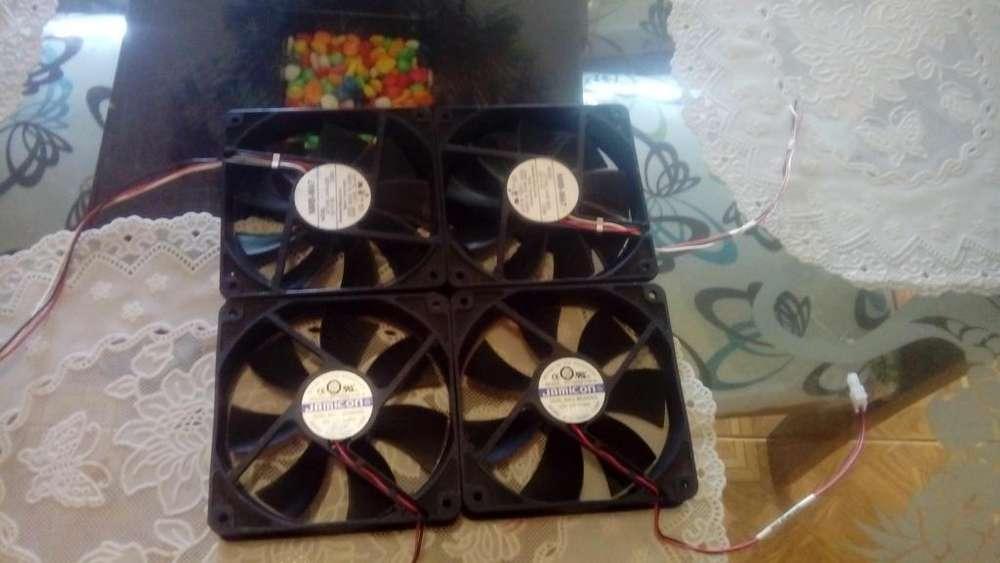 4 VENTILADORES PARA PC DE 120MM