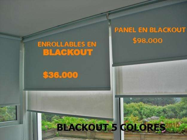 Cortinas enrollables blackout sheer panel japones