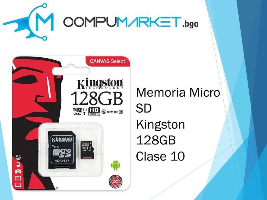 Memoria micro sd kingston 128gb clase 10 nuevo y facturado