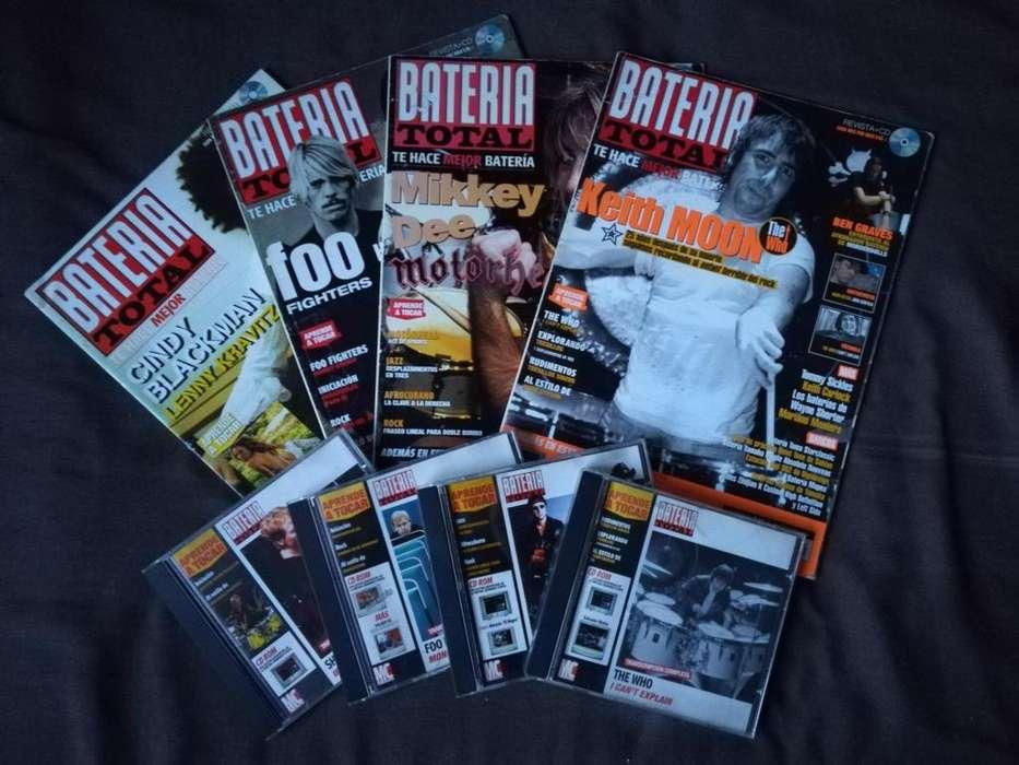 4 Revistas Bateria Total Con Cds 1 Guitarra Total Con Cd