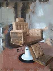 Sillas de Barberia Peluquería en Madera