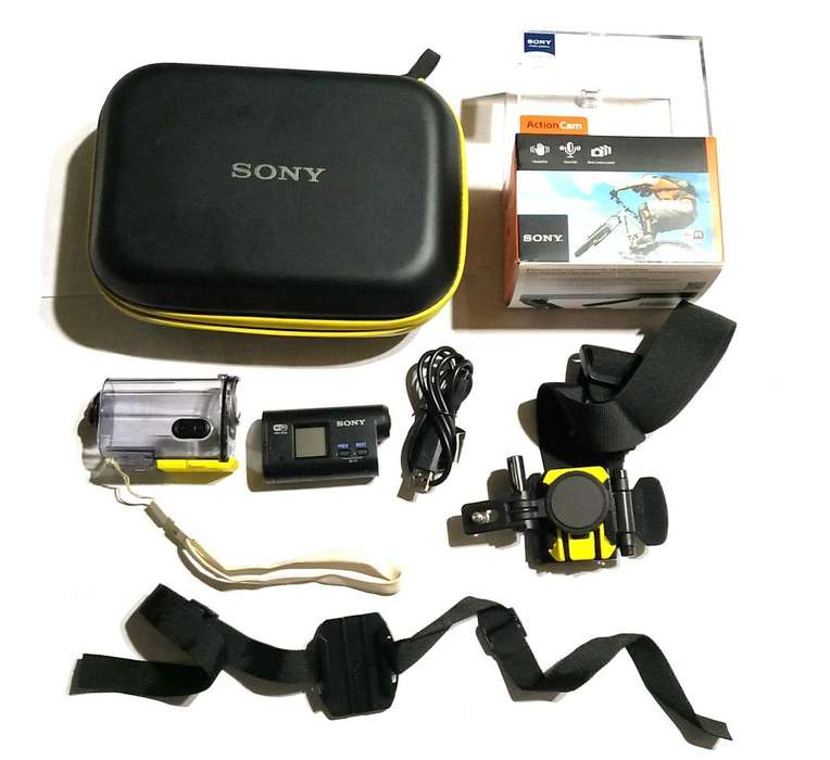 Camara Filmadora Sony Action Cam Hdr-as20 Hd Wifi 11.9 Mp