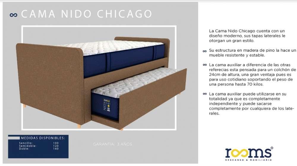BASE CAMA NIDO CHICAGO