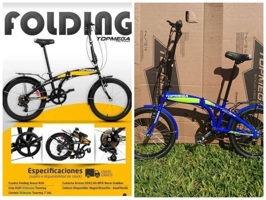 Bicicletas Plegables Topmega a Estrenar