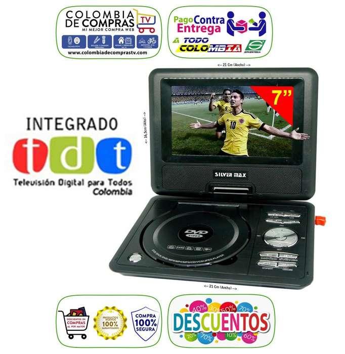 <strong>televisor</strong> Con Tdt Dvd Portátil 7 Pulgadas Usb Fm Juegos, Nuevos, Originales, Garantizados.