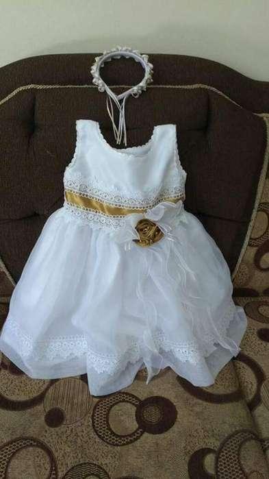 Hermoso Vestido de Bautizo para Bb 6-12