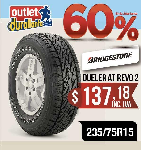 <strong>llantas</strong> 235/75R15 BRIDGESTONE DUELER AT REVO2 LUV D-MAX BT-50 KORANDO A230 Montero Sport 4WD KORANDO