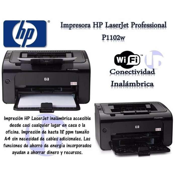 Impresora Laser HP P1102W - USB y Wifi - Toner Negro 85A - Impecable, como nueva - Frente a estación Ramos Mejía