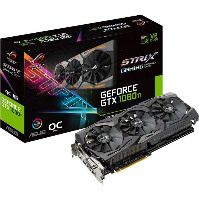 Tarjeta De Video Nvidia Geforce Gtx 1080 Ti 11gb Asus Strix OC