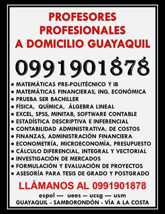 CLASES A DOMICILIO GUAYAQUIL 0991901878 ESTADÍSTICA, MATEMÁTICAS FÍSICA, QUÍMICA, ECONOMÍA, EXCEL