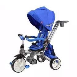 Triciclo Paseador De Lujo Ebaby 300 Aluminio Giratorio Bebés