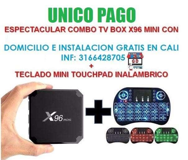 CONVERTIDOR DE TV A SMAR TV CON TECLADO ILUMINADO