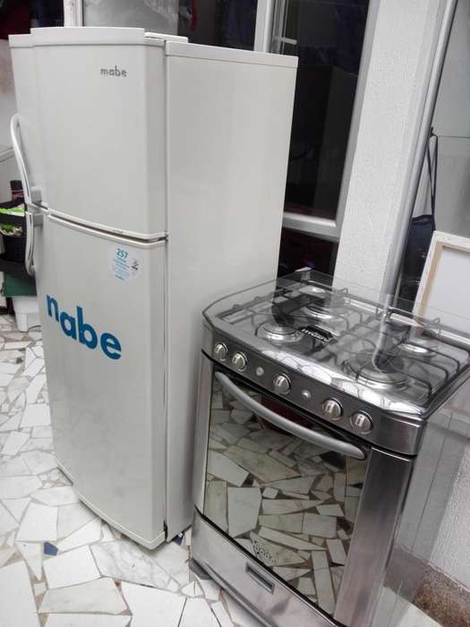 Vendo estufa y nevera Mabe como nuevas