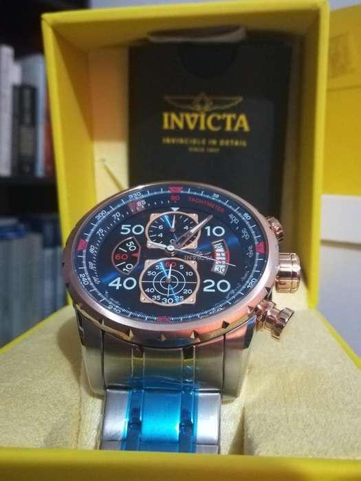 Reloj Invicta Aviator oro rosa, chapado oro, acero. Relojes hombre Diesel Fossil