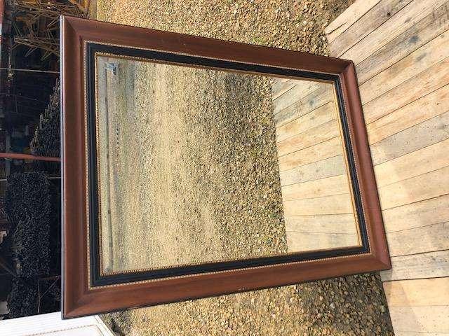 Espejo rectangular clásico marco madera. Usado perfecto estado