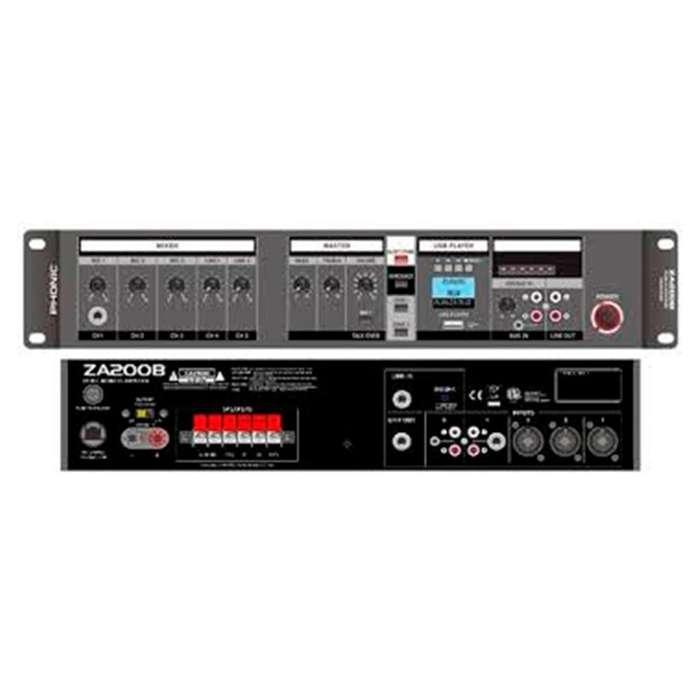 Consola Phonic ZA200B Mezclador activo