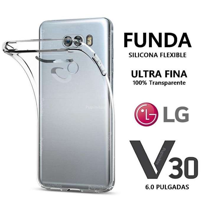 Funda Cover Silicona Transparente Flexible Lg V30 Rosario