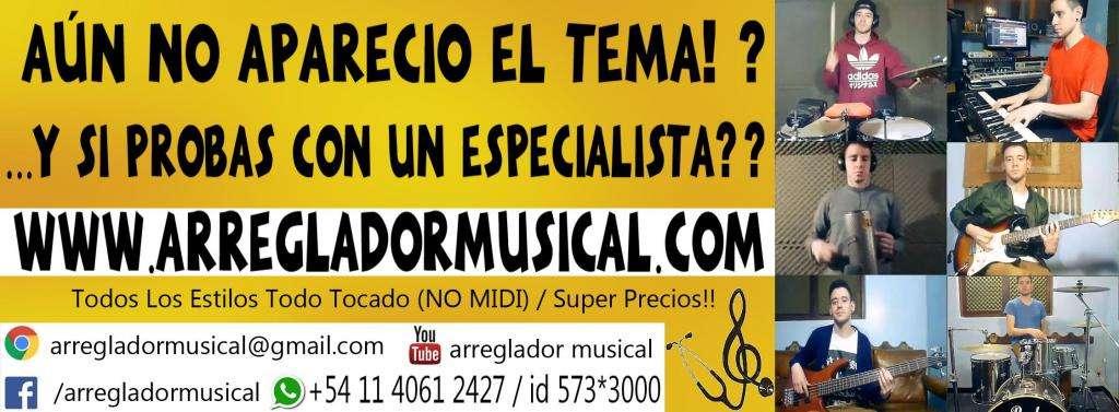 ARREGLADOR MUSICAL ESTUDIO DE GRABACION ZONA OESTE