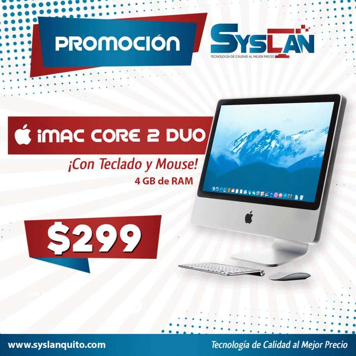 Imac Core 2 Duo 4GB RAM 20.5 500GB Disco Duro