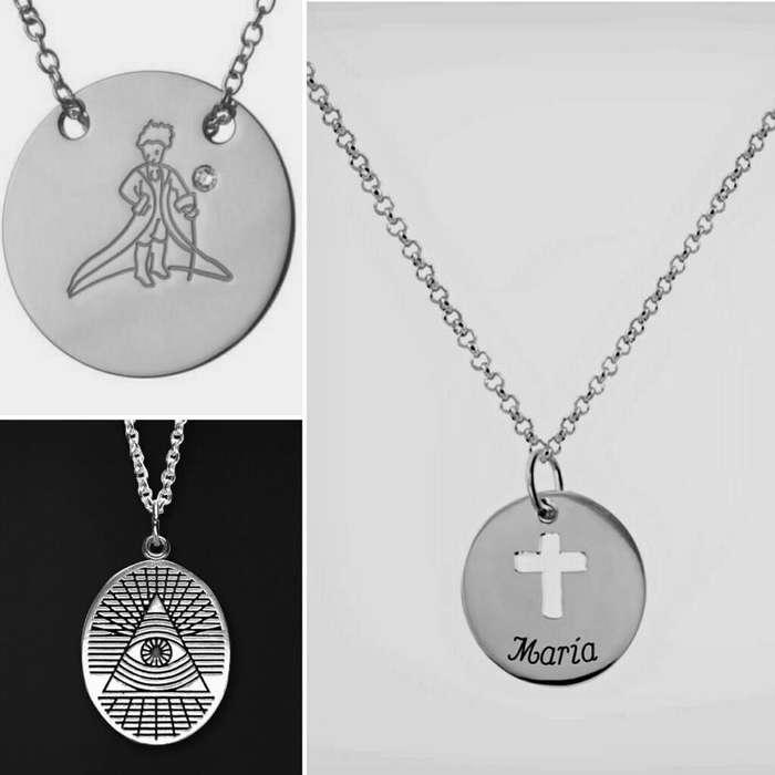 8c41df145499 Venta de Joyas en Lima Perú Plata 950 medallas medallon suerte cruz joyas  personalizadas literatura nombre
