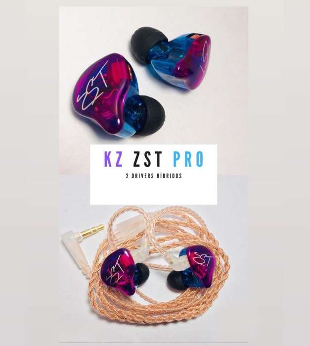 In Ears Kz Zst <strong>monitor</strong>es (Nuevos)