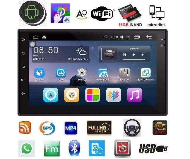 Radio Android 8.1 Pantalla 2 Din Wifi Gps Waze Uber