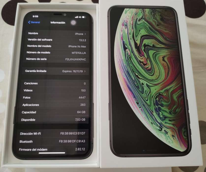 iPhone Xs Max de 64 Gb Space Gray