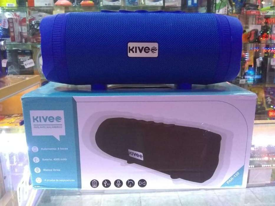 Parlante portátil bluetooth con batería recargable KIVEE PAR-130