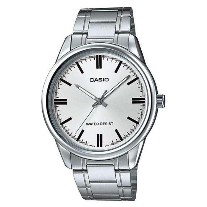 Reloj Casio Mtp V005 Metal Cara Plata