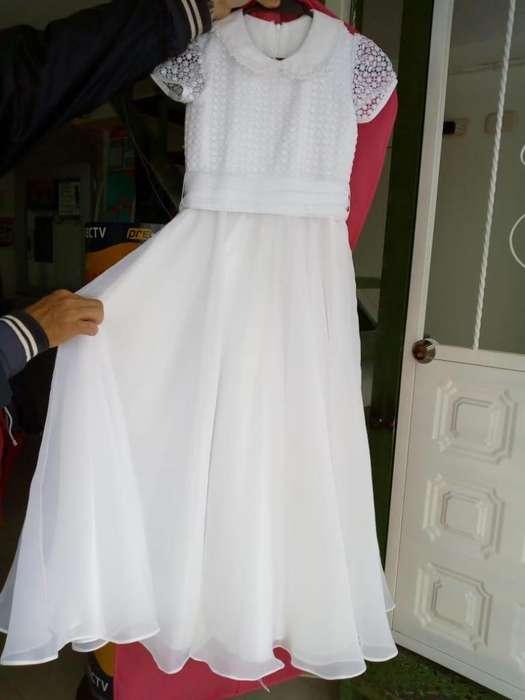 Vestido De Primera Comunión Para Niña Alta Costura