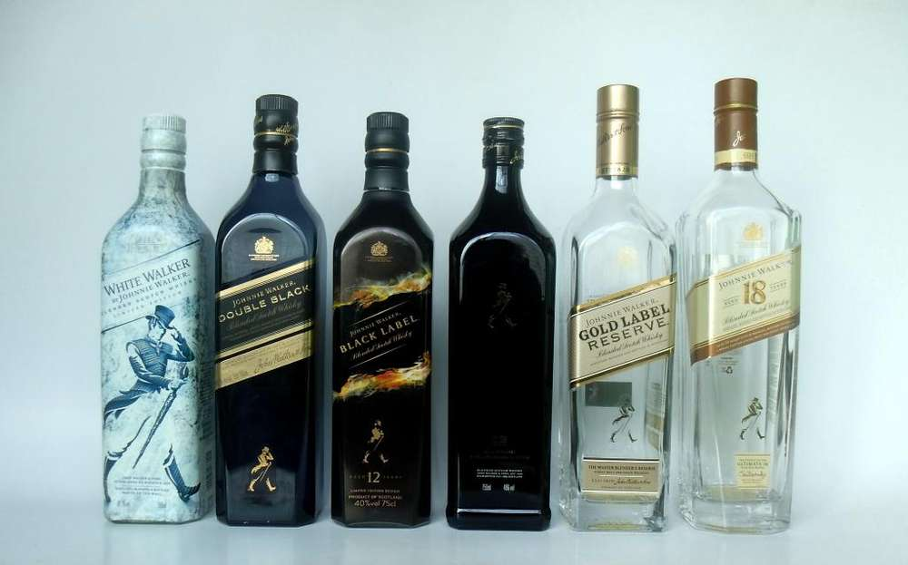 BOTELLA WHISKY JOHNNIE WALKER 750 ML VACIA