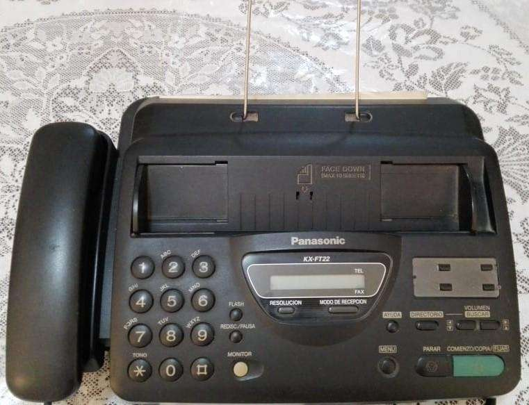 Fax Panasonic Modelo Kx-ft22 Color Negro / Buen Estado