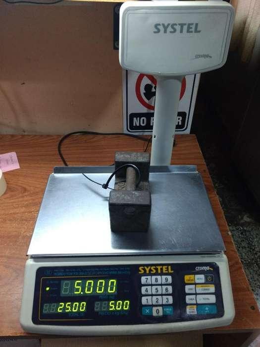 Balanza Systel Croma 30kg con Bateria