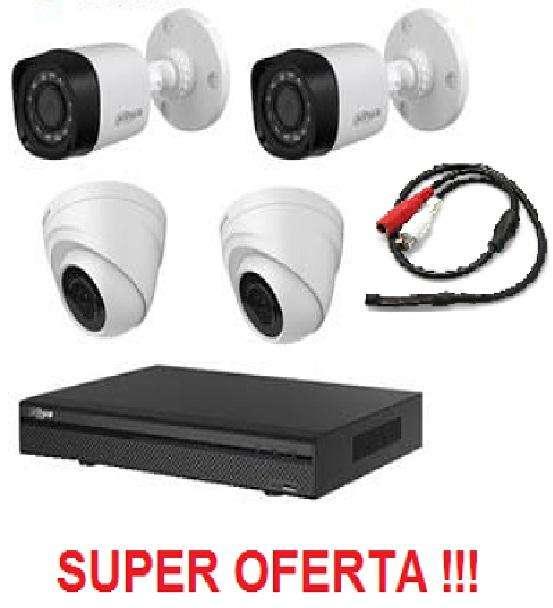 Camara de vigilancia Kit de 4 camaras y grabador HD