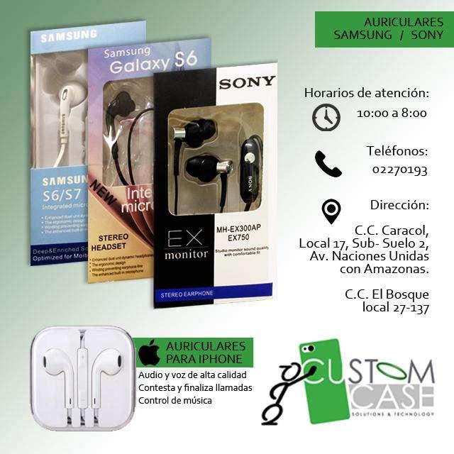 Auriculares para Iphone, Samsung y Sony